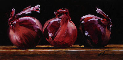 Painting - Red Onion Trio by Michael Lynn Adams