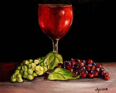 Stemware Painting - Red Or White by Dyanne Parker