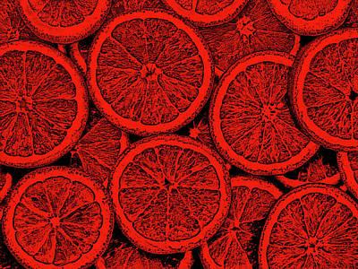 Digital Art - Red Orange by Anton Kalinichev