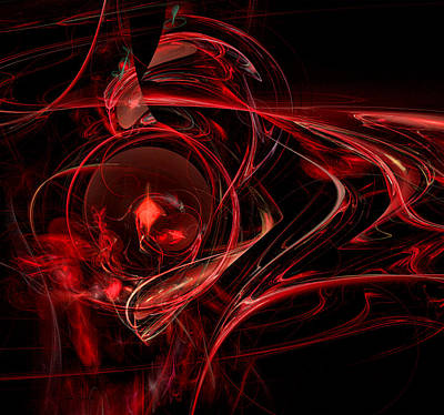 Digital Art - Red Orb by Sylvia Thornton