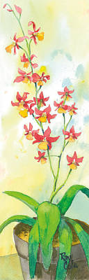 Ray Cole Painting - Red Orchid by Ray Cole