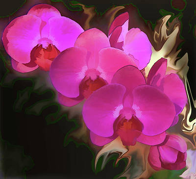 Photograph - Red Orchids14 by Susan Crossman Buscho