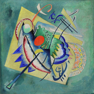 Spots Painting - Red Oval by Wassily Kandinsky