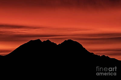 Photograph - Red Over Gila Mountains by Robert Bales
