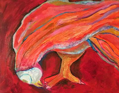 Painting - Red Owl by Rosalinde Reece