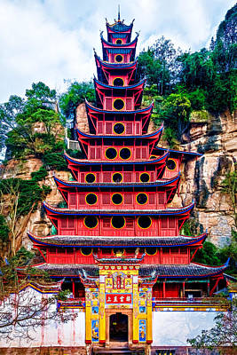 Photograph - Red Pagoda by Maria Coulson
