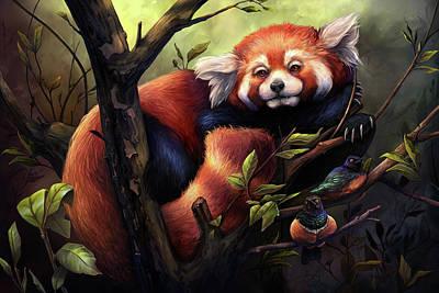 Digital Art - Red Panda by Cass Womack