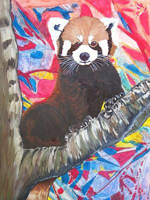 Representative Abstract Mixed Media - Red Panda I by David Raderstorf
