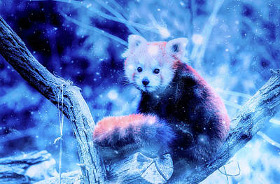 Mixed Media - Red Panda by Ractapopulous