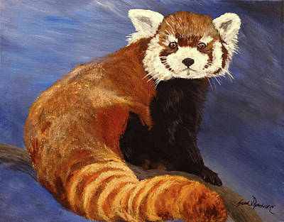 Red Panda Painting - Red Panda by Sarah Nettesheim