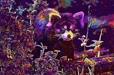 Digital Art - Red Panda Zoo Animal  by PixBreak Art