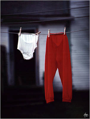 Photograph - Red Pants by Wayne King