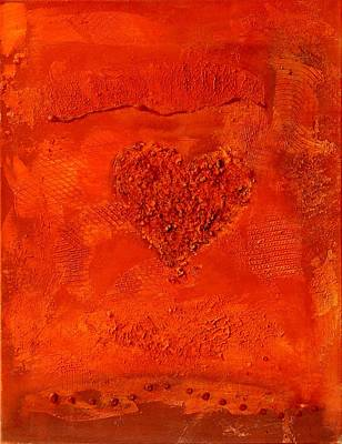 Painting - Red Paper Heart by Alexandra Schumann