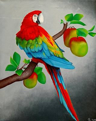 Painting - Red Parrot by Ramona Boehme