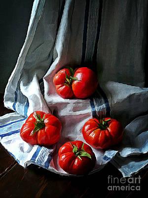 Tomato Mixed Media - Red Passion by Binka Kirova