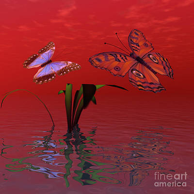 Utopia Digital Art - Red Passion by Corey Ford