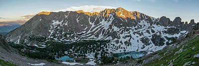 Photograph - Red Peak And Willow Lakes Sunset by Aaron Spong