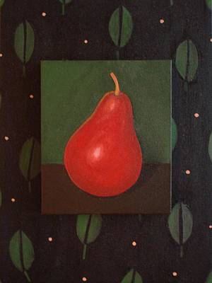 Painting - Red Pear by Helena Tiainen