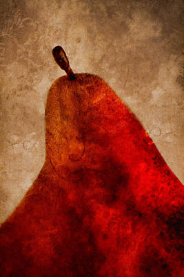 Rectangles Photograph - Red Pear II by Carol Leigh