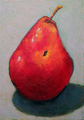 Red Pear Art Print by Joyce Geleynse