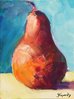 Painting - Red Pear by Yulia Kazansky