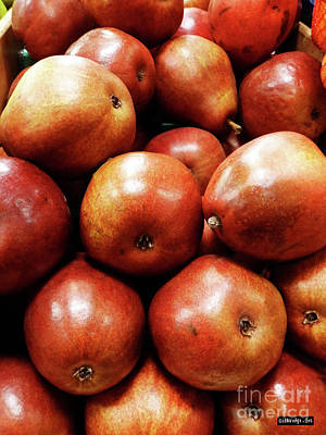 Photograph - Red Pears by Methune Hively