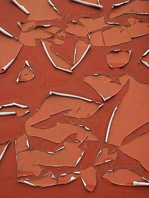 Photograph - Red Peeling Paint by Dutch Bieber
