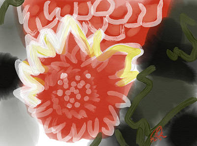 Red Penes Art Print by Carl Griffasi