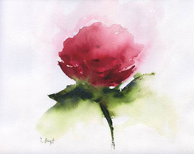 Painting - Red Rose Abstract by Frank Bright