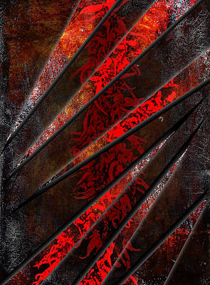 Abstract Digital Art Mixed Media - Red Pepper Abstract by Svetlana Sewell