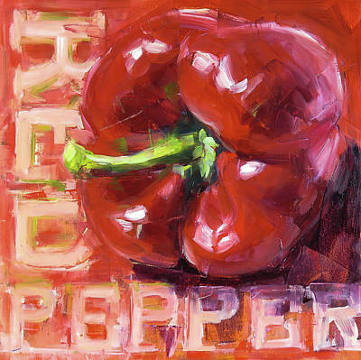 Pepper Painting - Red Pepper by Annie Salness
