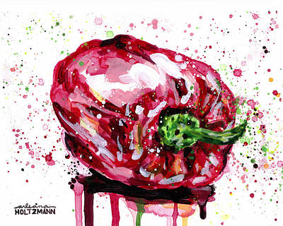 Painting - Red Pepper by Arleana Holtzmann