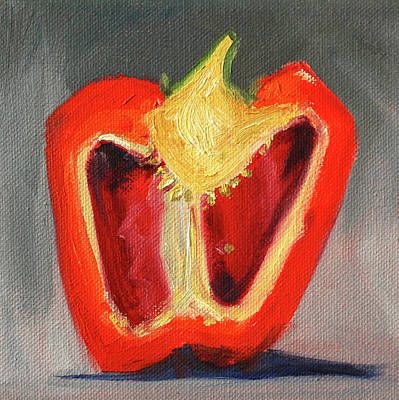 Painting - Red Pepper Half by Nancy Merkle