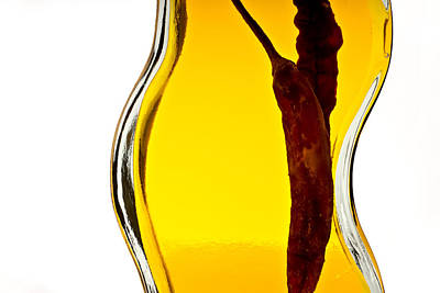 Photograph - Red Pepper In Olive Oil by  Onyonet  Photo Studios