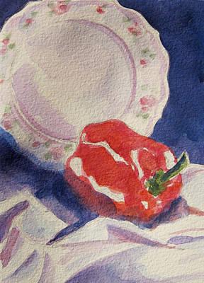 Red Pepper Art Print by Marsha Elliott