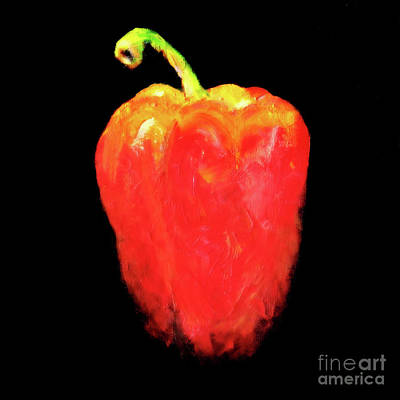 Tangy Painting - Red Pepper by Miri Harvey