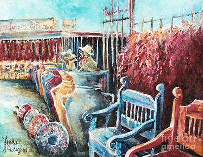 Painting - Red Peppers And Pots  by Linda Shackelford