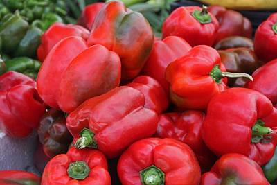 Photograph - Red Peppers by Michiale Schneider