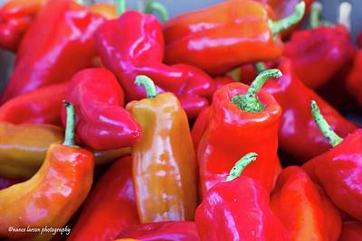 Photograph - Red Peppers by Nance Larson