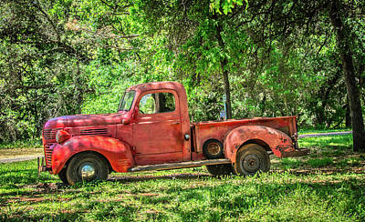 Photograph - Red Pick Up by Steph Gabler