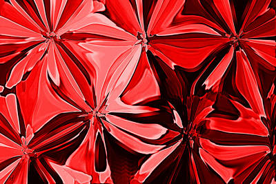 Digital Art - Red Pinched And Gathered by Shelli Fitzpatrick