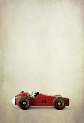 Photograph - Red Pinewood Derby Racer by David and Carol Kelly
