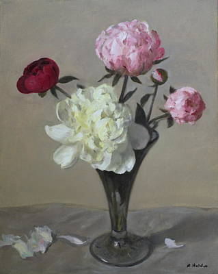 Painting - Red, Pink And White Peonies by Robert Holden
