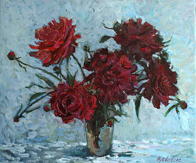 Red Piones Art Print