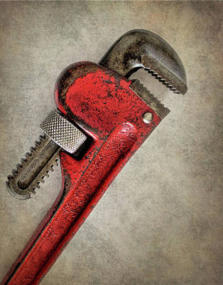 Photograph - Red Pipe Wrench by David and Carol Kelly