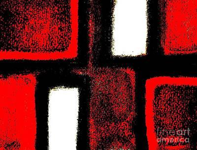 Red Plaid Art Print by Marsha Heiken