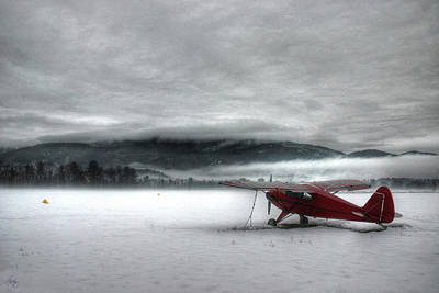 Photograph - Red Plane In A Monochrome World by Wayne King