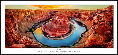 Colorado River Photograph - Red Planet Panorama Poster Print by Az Jackson