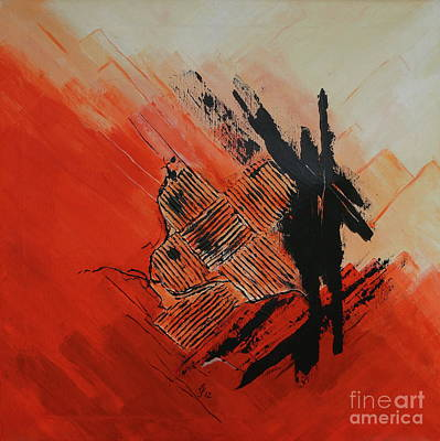 Red Planet Xi Original by Christiane Schulze Art And Photography