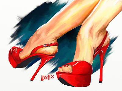 Painting - Red Platforms by Dillan Weems